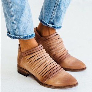 FREE PEOPLE Lost Valley Ankle Boot Tan Size 8/38
